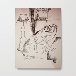 Safe Sex Metal Print