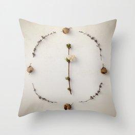 Botanical Circle III Throw Pillow