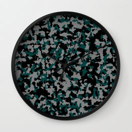 Tricolor military pattern Wall Clock