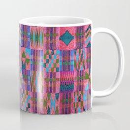 Kente Cloth // Summer Sky & Venetian Red Coffee Mug