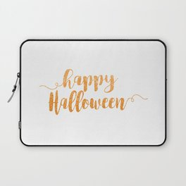 Happy Halloween | Orange Glitter Laptop Sleeve