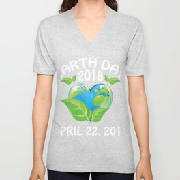 Earth day 2018 Shirt - support science save world Unisex V-Neck