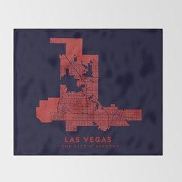 Las Vegas Map Throw Blanket