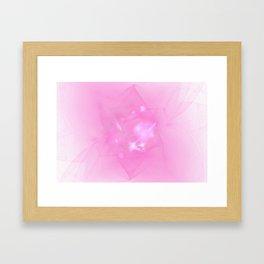 Folds In Pink Framed Art Print