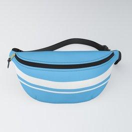 White Stripes picton blue Fanny Pack