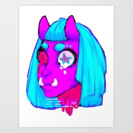 Ferocious Body Art Print