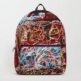 Abstract Beer - Inspired By Pollock  #society6 #wallart #buyart by Lena Owens @OLena Art Backpack