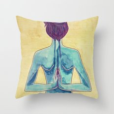 Paschima Drsti Throw Pillow