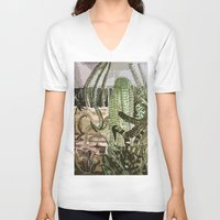 southwest V-neck T-shirts featuring Southwest Garden by ArtistsWorks