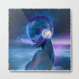 Spacemaiden Metal Print