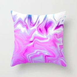 Purple Fire Throw Pillow
