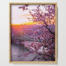 Cherry Blossom Bridge Serving Tray