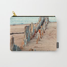 Wharf Remains on the Beach Carry-All Pouch