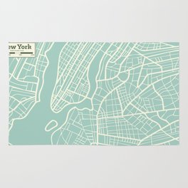 New York USA Map in Retro Style. Rug