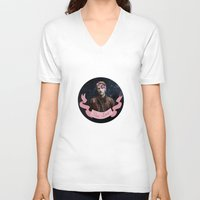 star lord V-neck T-shirts featuring Star-Lord by adelinotte