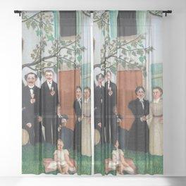 Henri Rousseau - The Family Sheer Curtain