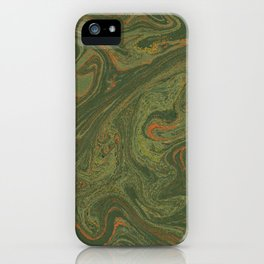 Marbled Green paper iPhone Case