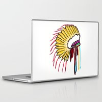 headdress Laptop & iPad Skins featuring Headdress by Relic X