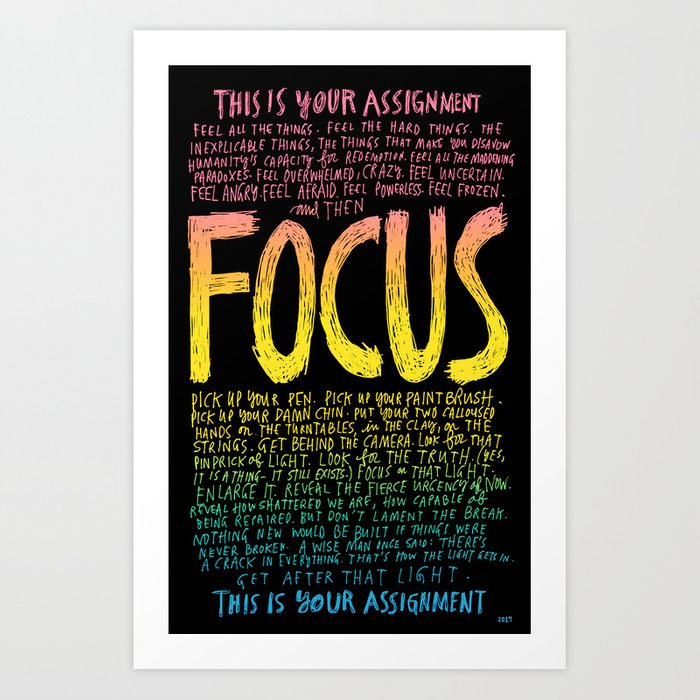 FOCUS 2017, by Courtney Martin and Wendy MacNaughton Kunstdrucke