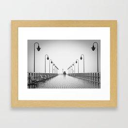 In Love On the Pier Framed Art Print