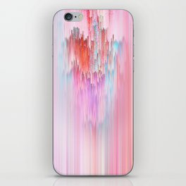 Abstract Cascade Glitch 2.Red and Pink iPhone Skin