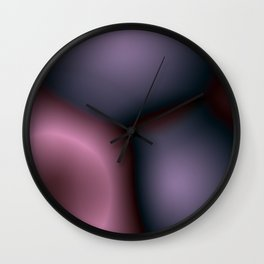 Pastel pink and purple Wall Clock