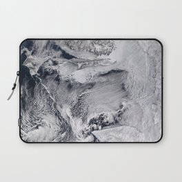 Sea Ice, Clouds in the Sea of Okhotsk Laptop Sleeve