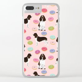 English Springer Spaniel donuts funny dog gifts perfect for spaniel owner pet portraits Clear iPhone Case