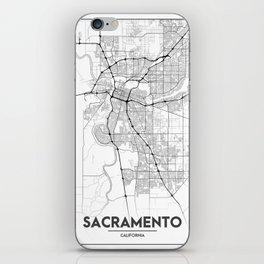 Minimal City Maps - Map Of Sacramento, California, United States iPhone Skin