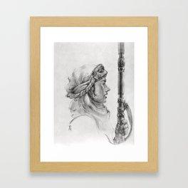 Rey on Jakku Framed Art Print
