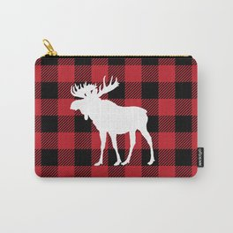 Red Buffalo Plaid Moose Carry-All Pouch