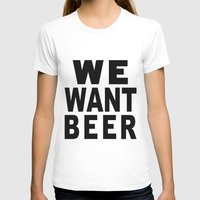 beer T-shirts featuring Beer by Meche A