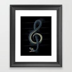 Snake Note Framed Art Print