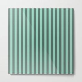 Aquamarine Stipes Pattern Metal Print