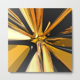 Black And Gold 3D Abstract Metal Print