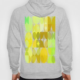 Pale Yellow Poinsettia 1 Abstract Circles 3 Hoody