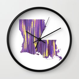 Geaux Louisiana Wall Clock