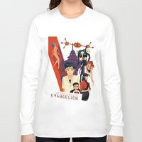 evangelion Long Sleeve T-shirts featuring Evangelion by Collectif PinUp!