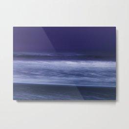 la mer en violet, purple waves Metal Print