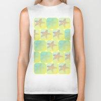 starfish Biker Tanks featuring Starfish by Gaspar Avila