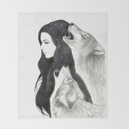 Winter Song Throw Blanket