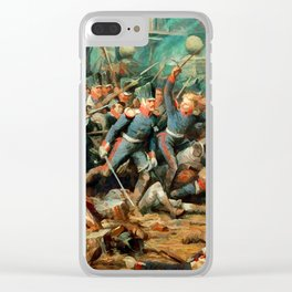 The capture of Plancenoit Clear iPhone Case
