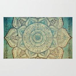 Faded Bohemian Mandala Rug