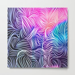 Bright Illusion Metal Print