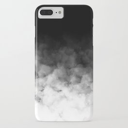 Ombre Black White Clouds Minimal iPhone Case