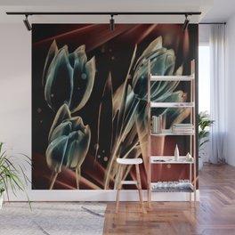 Blaue Tulpen Wall Mural