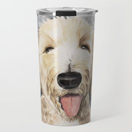 Goldendoodle Watercolor Travel Mug