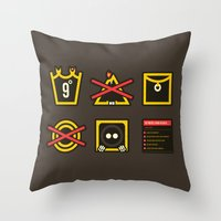 lord of the ring Throw Pillows featuring Take Care Ring-bearer by Barn Bocock