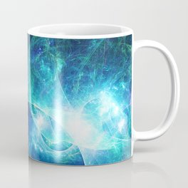 Abstract colorful shiny print graphic with planet space Coffee Mug