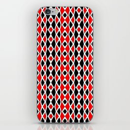 Red Black and White Pattern iPhone Skin